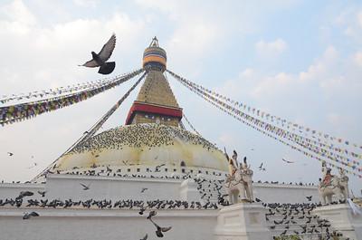 Boudhanath (aka Boudha) Tibetan stupa in Kathmandu.