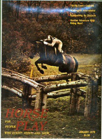 Cow and Tony Coverboys of HorsePlay Magazine January 1978  at the Ledyard International Championship 3-day Event 1977