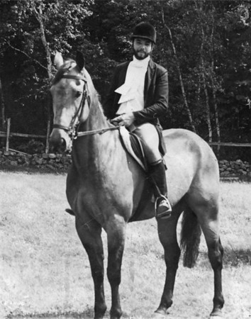 Cow (Grullo Cowboy) and Tony  Puckerbrush Farm 1973
