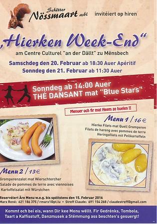 Hierken Weekend - Schëtter Nëssmaart