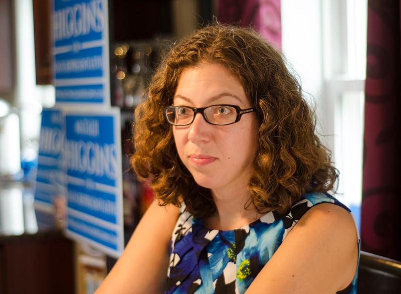 Natalie Higgins, candidate for State Representative in Leominster. SENTINEL & ENTERPRISE / Ashley Green