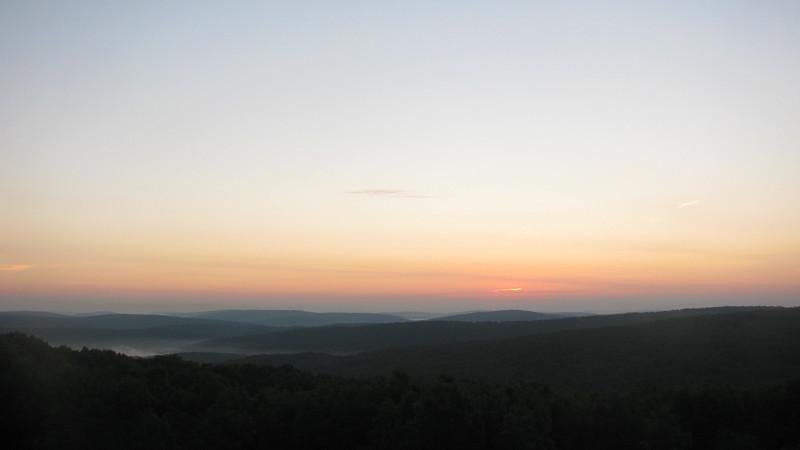 Day 1 Sunrise At Taum Sauk State Park on Taum Sauk Mountain