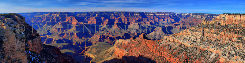 Nine image HDR panoramic view of the Grand Canyon.  Note: Special steps may need to be taken when ordering a non-standard size panoramic image I will update this note ASAP please conatct me before ordering a pano. HDR tonemapped