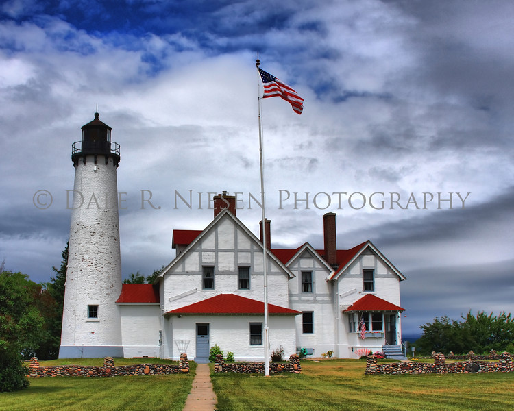 Point Iroquois Lighthouse near Brimley, Michigan on Whitefish Bay. (HDR)