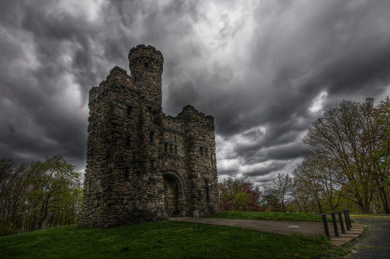 """""""The Bancroft Tower Castle during the rain"""""""