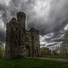 """The Bancroft Tower Castle during the rain"""