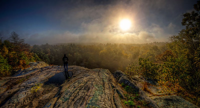 """Early Morning Myst"" October 5th, 2012 Top of the Assonet Ledge Freetown State Forest in Freetown, MA"