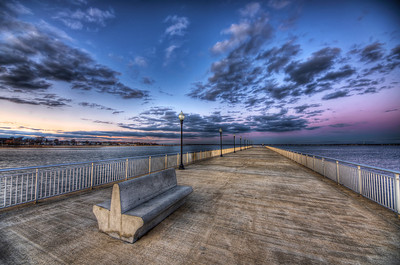 """The Lonely Pier"" January 2, 2012 New Bedford, MA"