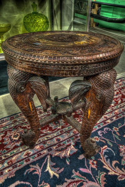 Elephant Table<br /> New Bedford Antiques Center & Museum<br /> May 8th, 2010