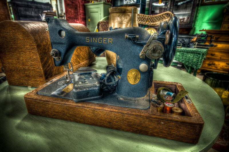 Singer Sewing Machine<br /> New Bedford Antiques Center & Museum<br /> May 8th, 2010