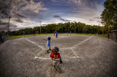 """Play Ball!"" June 26th, 2012 My kid's instructional baseball team playing ball. Pope Park in Acushnet, MA"