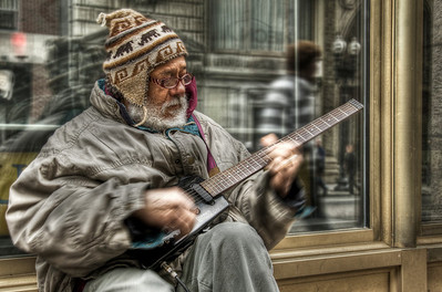 """The Bluesman"" Tremont Street, Boston, MA May 14th, 2011"