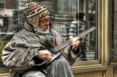 """The Bluesman"" Tremont Street, Boston, MA May 14th, 2011"