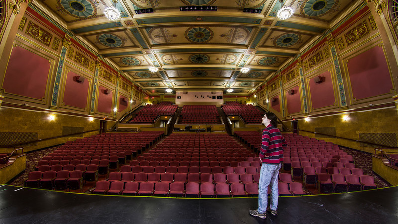 """""""Standing in the Proscenium""""<br /> (Tones Enhanced)<br /> <br /> The Stadium Theatre<br /> March 2nd, 2011"""