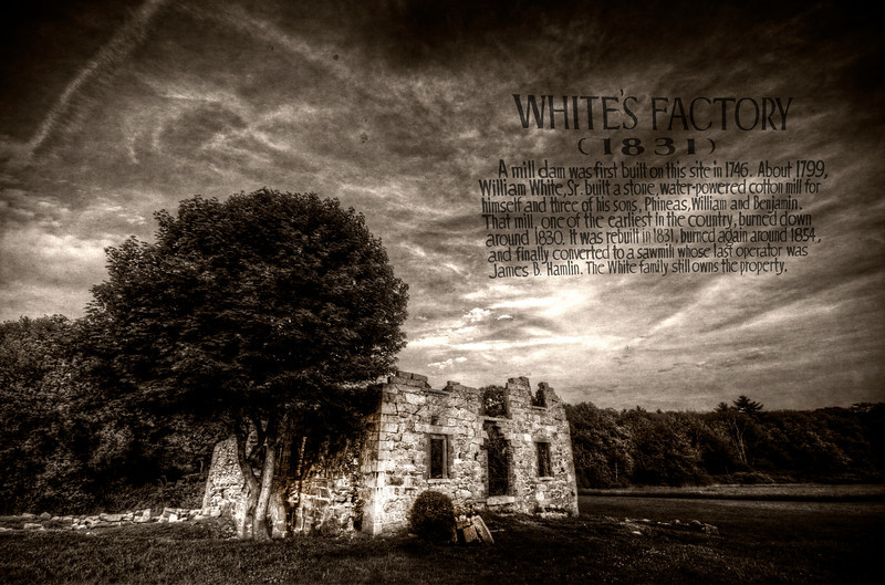 """White's Factory (1831)""<br /> May 26th, 2012<br /> Acushnet, MA"