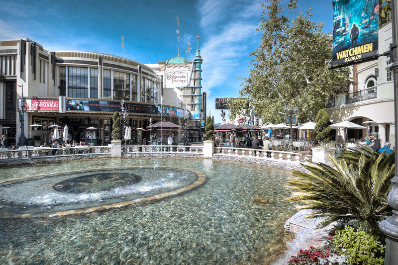 The Grove Fountain, Los Angeles,  HDR<br /> © Harvey Cooper 2009