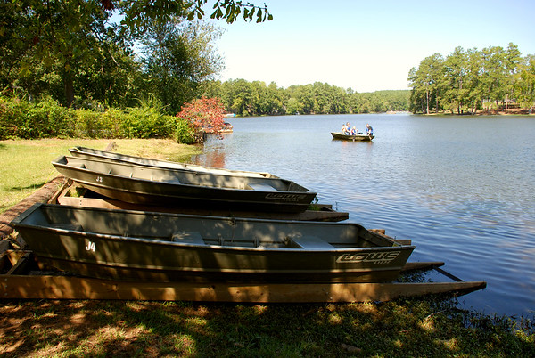 Boats on the Shore of High Falls