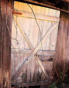 Old Barn Door - Near Chealis, WA -  file name for ordering listed below