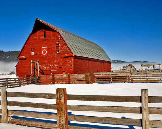 Red Barn in Cascade, Idaho  Note File Name below for ordering