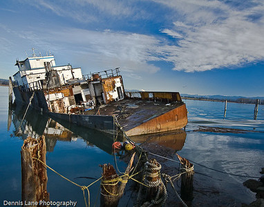 Sunken Fishing Boat - Everett, WA