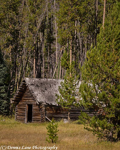 Old Homestead Cabin near Cascade, ID. Note File Name below for ordering
