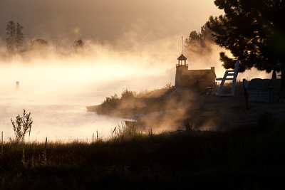 Foggy light house - Payette River @ Cascade, MT. Note File name for ordering