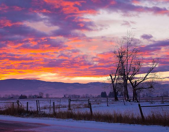 Sunrise in Stevensville, MT - Note File name for ordering.