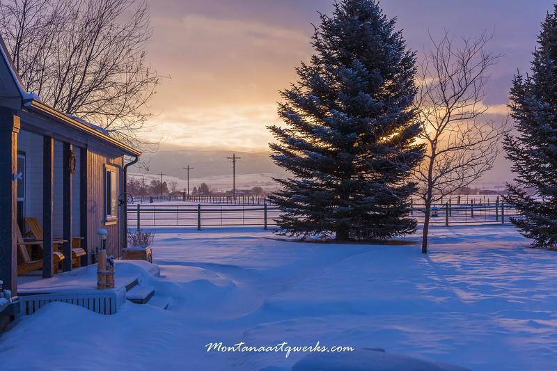 Front Portch Sunrise - Stevensville, MT