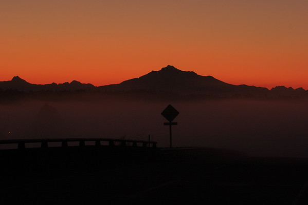 Sun Rise on the North Cascade fnear Everett, WA - Note File Name below for ordering