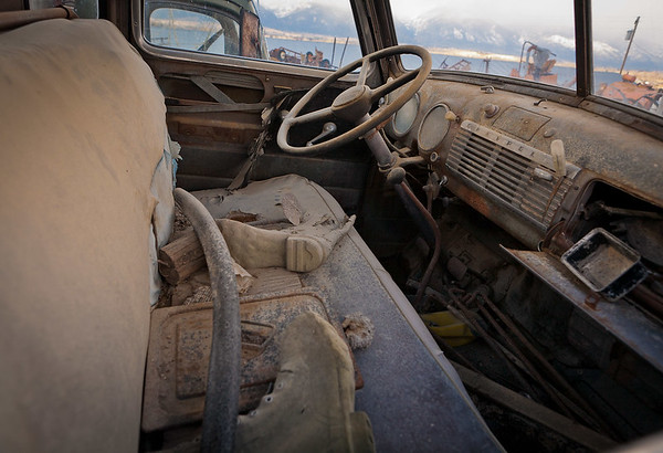 Desolate truck cab