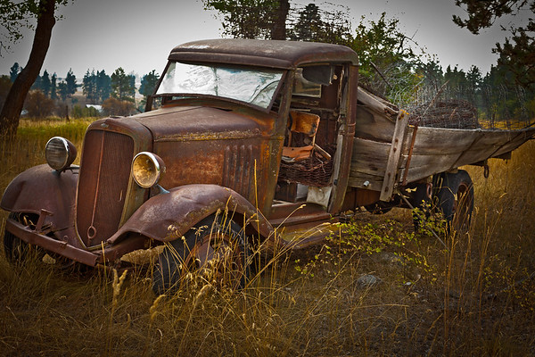 Tired Truck in Darby, Montana -Please note file name for ordering