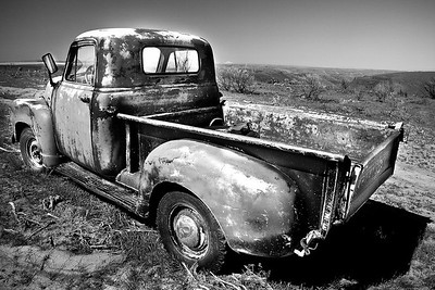 Psyco Chevy - B&W - Eastern Oregon - Note File Name for ordering