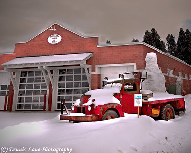Icy Fire Truck, McCall Idaho - North Cascade from near Everett, WA - Note File Name below for ordering