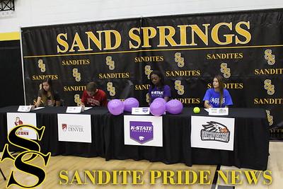Sandite College Athletic Signings