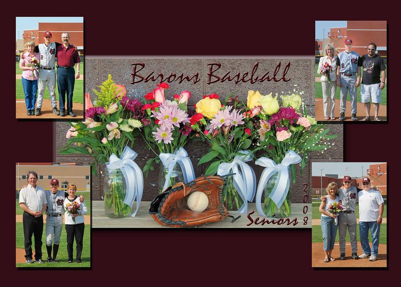 Barons Baseball Collage