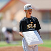 5/22/181:48:32 PM --- San Luis Obispo High School Baseball lost to Arlington in the CIF Playoffs at Taylor Field in San Luis Obispo, CA on May 21, 2018. <br /> <br /> Photo by Owen Main