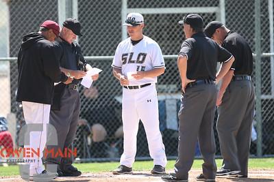 5/18/182:12:47 PM --- San Luis Obispo High School baseball beat Oxnard High School 6-0 in the CIF playoffs at San Luis Obispo High School in San Luis Obispo, CA on May 18, 2018.   Photo by Owen Main