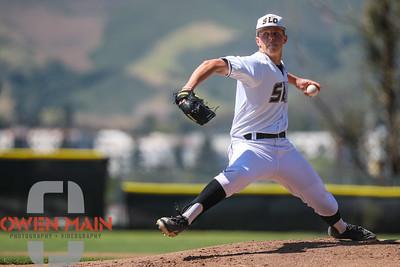 5/18/182:19:59 PM --- San Luis Obispo High School baseball beat Oxnard High School 6-0 in the CIF playoffs at San Luis Obispo High School in San Luis Obispo, CA on May 18, 2018.   Photo by Owen Main