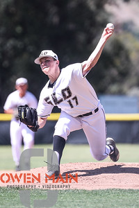 5/18/182:18:44 PM --- San Luis Obispo High School baseball beat Oxnard High School 6-0 in the CIF playoffs at San Luis Obispo High School in San Luis Obispo, CA on May 18, 2018.   Photo by Owen Main