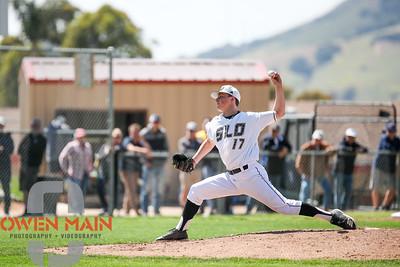 5/18/182:21:28 PM --- San Luis Obispo High School baseball beat Oxnard High School 6-0 in the CIF playoffs at San Luis Obispo High School in San Luis Obispo, CA on May 18, 2018.   Photo by Owen Main