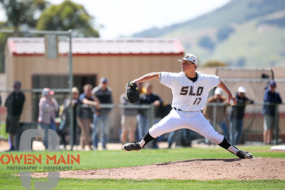 5/18/182:21:14 PM --- San Luis Obispo High School baseball beat Oxnard High School 6-0 in the CIF playoffs at San Luis Obispo High School in San Luis Obispo, CA on May 18, 2018.   Photo by Owen Main