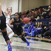 Tupelo Lady Wave Alara Davis drives thew the New Site Lady Royals defense in Saturdays Kiwanis Classic(Chris Butler)