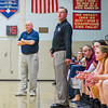 North Middlesex head coach Pat Murphy, left, and Groton-Dunstable head coach Mark Hennelly look on during Friday night's game. Nashoba Valley Voice/Ed Niser