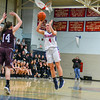 North Middlesex's Hadley Beauregard shoots a three-[pointer. Nashoba Valley Voice/Ed Niser