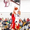 Groton-Dunstable's Ethan Cook puts up a layup during Fridya night's win. Nashoba Valley Voice/Ed Niser