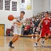 Groton-Dunstable's Evan Cook passes the ball during Friday night's win over Tyngsboro. Nashoba Valley Voice/Ed Niser