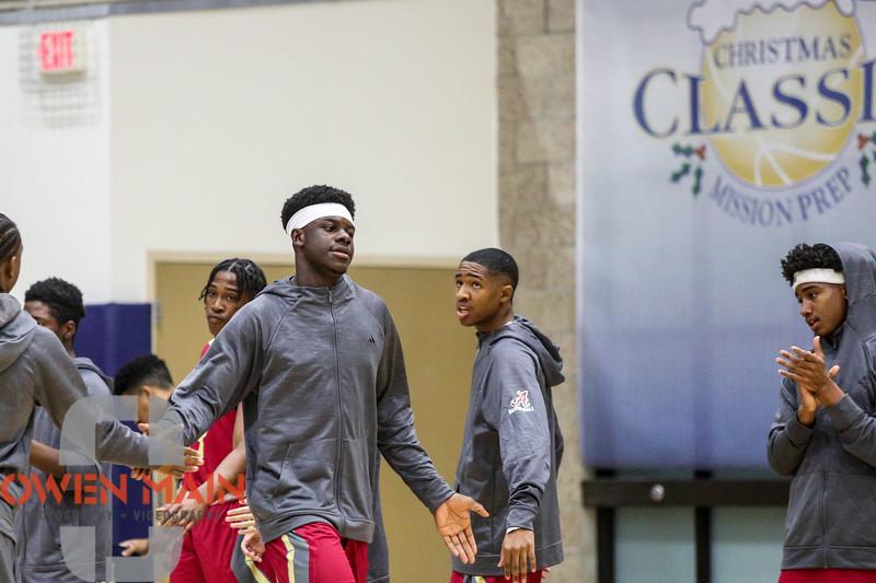 Cal Poly Men's Basketball hosted UTA. Photo by Owen Main 12/20/18