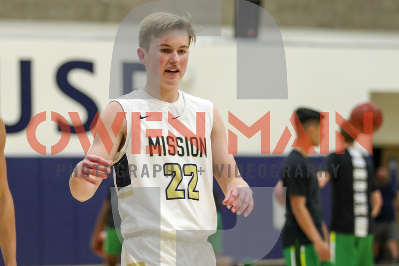 Mission Prep boys basketball hosted St. Joseph in San Luis Obispo, CA. Photo by Owen Main 2/4/19