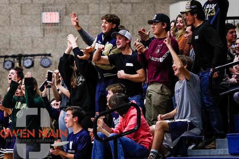 Mission Prep boys basketball hosted Righetti.  Photo by Owen Main 2/7/20