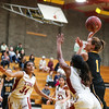 Day 4 of the SLOHS Girl's Basketball Tournament. Photo by Owen Main 12/8/18